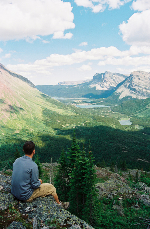 refluent:  Overlooking Many Glacier, Swiftcurrent Lake (by C.Hill)