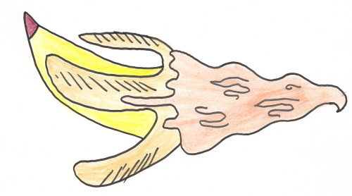 Daily Ice Cream Drawing…Sideways banana with soft serve….