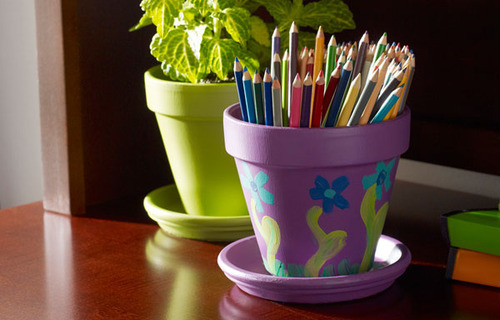 Young America DIY Craft Project: Painted Pots