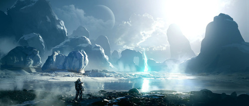 d4ndre784:  Ice Planet by LayneJohnson