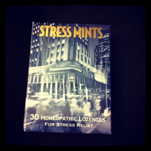 Why do I have these? In case I ever need them #stressmints (Taken with Instagram)