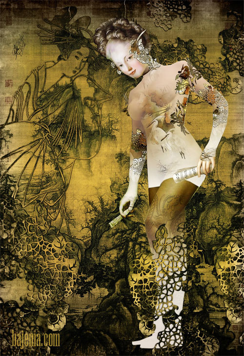 insectsangels:  Untitled (as of yet) - Collage piece, with great help from Guo Xi 1020 AD – 1090 AD