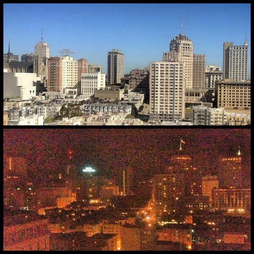 Same view… #DayvsNight  (Taken with Instagram)