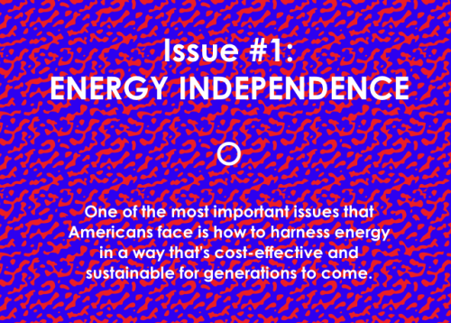 ENERGY ON MY MIND:  Interactive Infographic: Can America Be Energy Independent? Join us every Wednesday for the next two months, when we'll be graphically exploring these questions and more with interactive infographics that go behind the issues. Today, we're launching with one of key issues that underpins our environmental and economic future: energy independence. Launch infographic This infographic is a collaboration between GOOD and Other Means, with support from MTV
