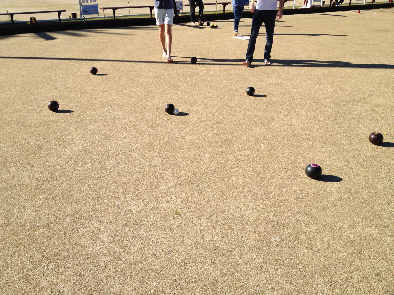 Love a casual Saturday playing bowls and having some beers