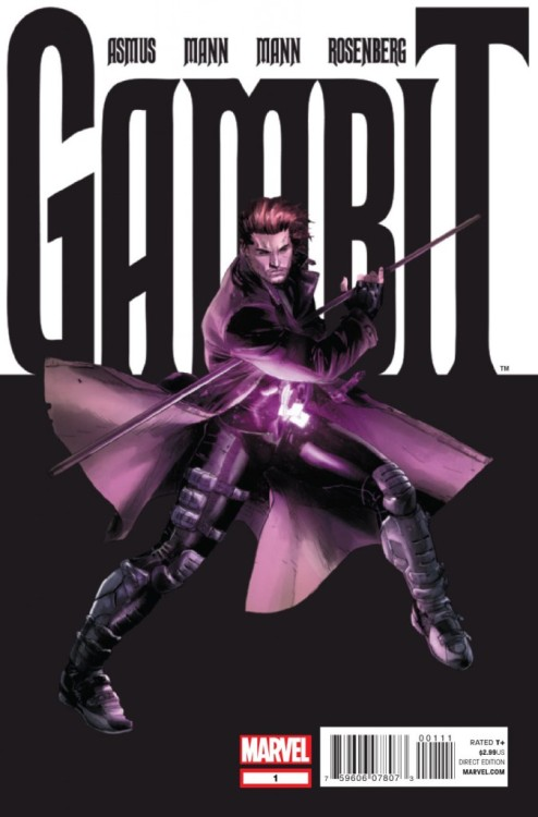 digsyiscomics:  Gambit v5 #1, October 2012, written by James Asmus, penciled by Clay Mann