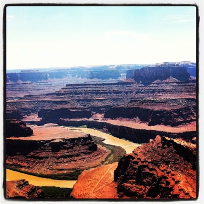 Dead Horse Point #utah #canyon #usatour12  (Pris avec Instagram)