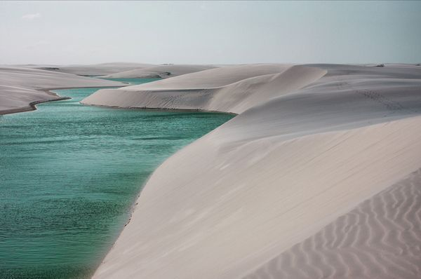abrighterperspective:  Sand dunes in a national park in Brazil.