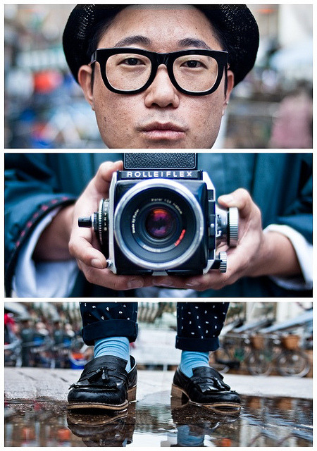 Triptychs of Strangers #20, The Analog Lover - London by theblackstar on Flickr.