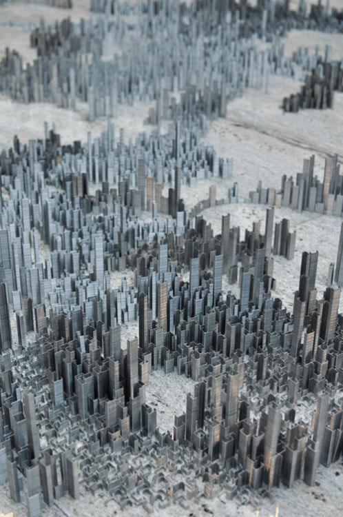 Design Milk - Peter Root's Ephemicropolis – A City of Staples