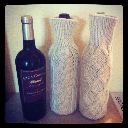 Wine sweater sleeves!