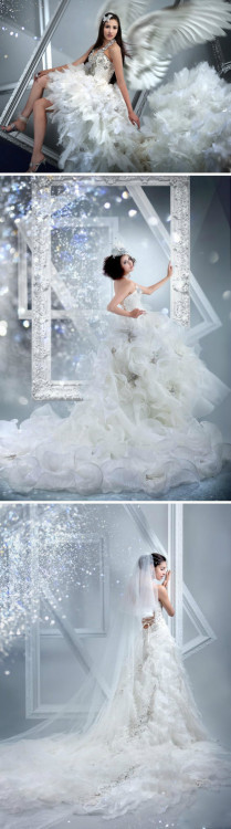 3 styles of iswarov extravagant crystal wedding dresses lighten beauty of bright extremely, which one do u prefer?