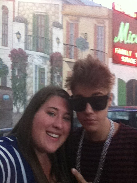 Justin meeting a fan today