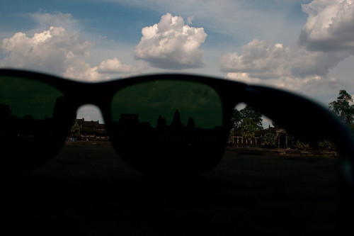 Angkor Wat seen through a pair of Ray Bans by Christian Haugen on Flickr.