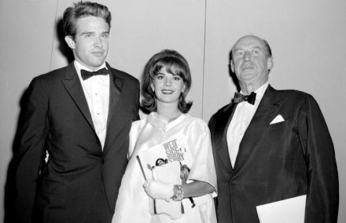 Natalie with Warren Beatty and Adlai Stevenson at the premiere of West Side Story