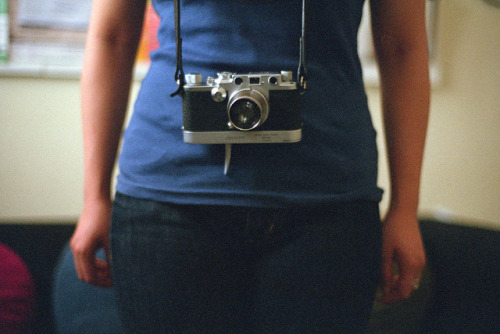 girl with leica by ragega!!ery™ on Flickr.Via Flickr: One Picture a Day l 196/366 olympus om-1 olympus g.zuiko 50mm f1.4 agfa vista 400