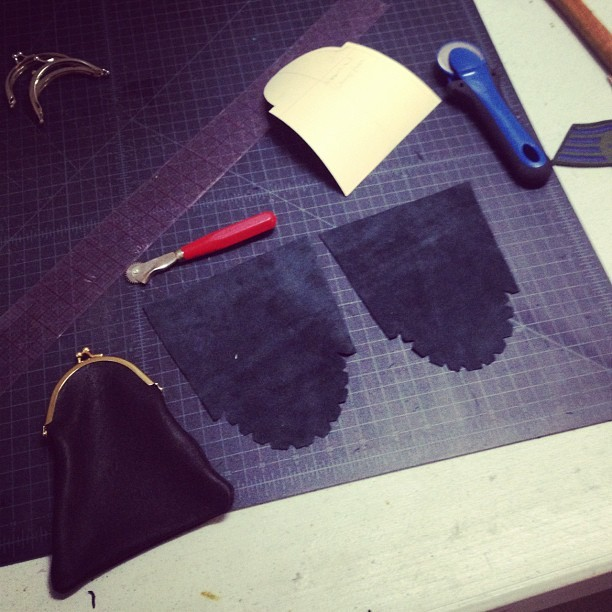Making coin purses  (Taken with Instagram)