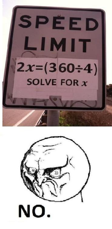"That's easy! The answer is ""45 MPH""."