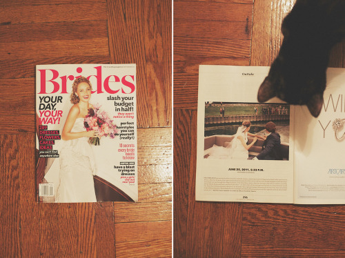 my first appearance in brides magazine, so excited to be published!