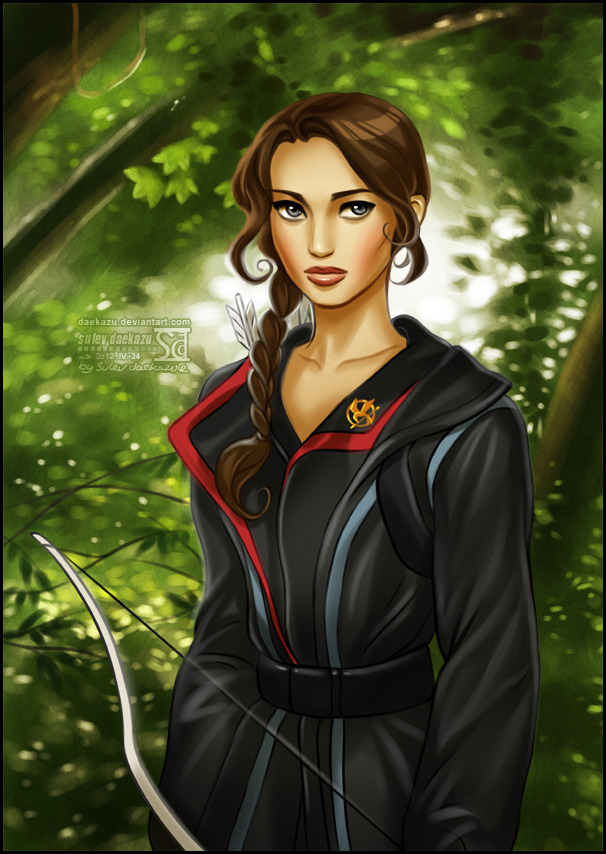 welcome-to-district-12:  Hunger Games: Katniss by *daekazu