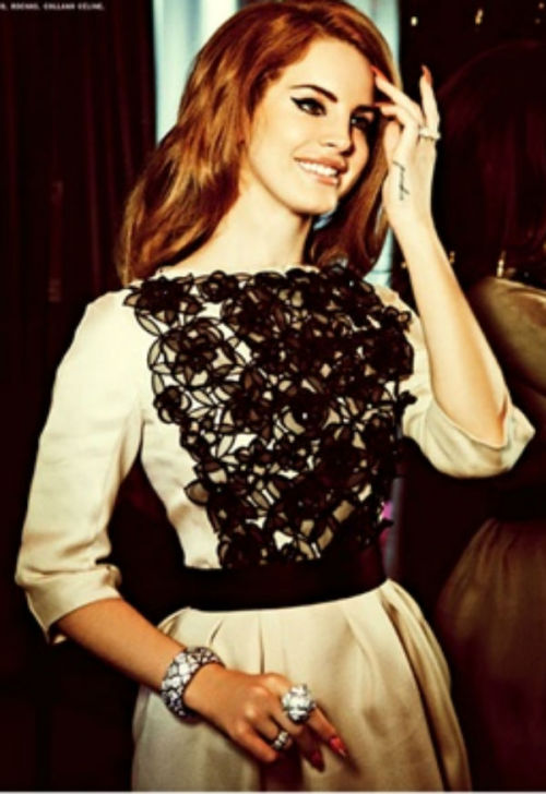 FASHION /// Lana Del Rey wears Dior silk dress, with black tulle flowers for Vogue Italia credit:vogue.it
