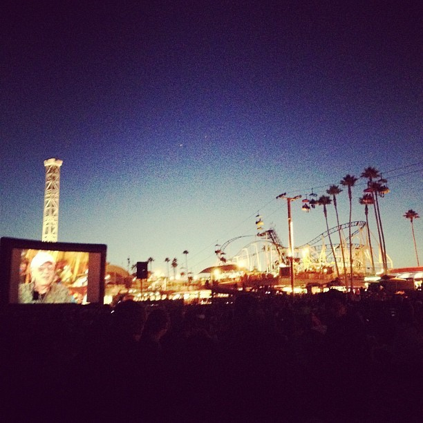 #santacruz #movienight #beachboardwalk  (Taken with Instagram at Santa Cruz Beach Boardwalk)