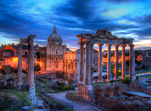 Roman Forum at Dusk by edwademd on Flickr.
