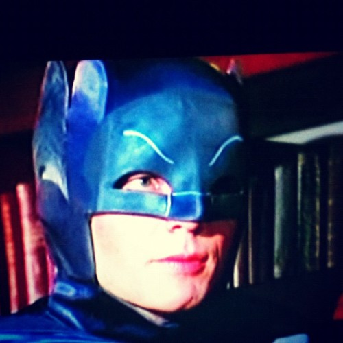 Batman versus bookworm  (Taken with Instagram at At home)