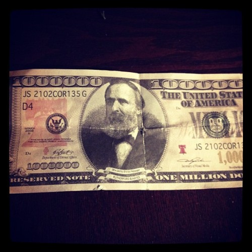 Million dollar bill y'all! #baller #money #rich (Taken with Instagram)