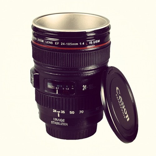 Is it a lens? or is it the most #amazing coffee flask you've ever seen :) Thank you @van700 IU. (Taken with Instagram at DT Panels)