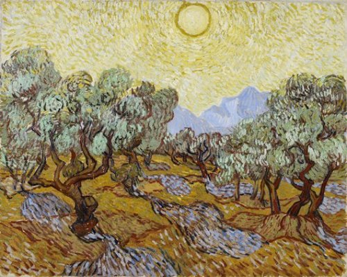 artofrenda:  Title: Olive Trees Artist: Vincent Van Gogh Country: Netherlands Medium: Oil on canvas Date: 1889  He is the only painter to ever make me cry, and I haven't even seen one of his works in person yet.