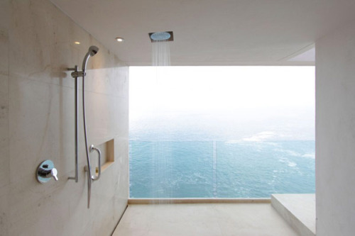 orc-hid:  crescent-soul:  daw-n:  woow the view  LOVE  i want a shower like that