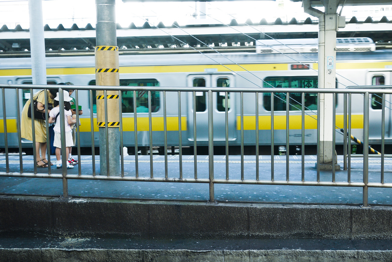 Yellows. From a Yamanote train.