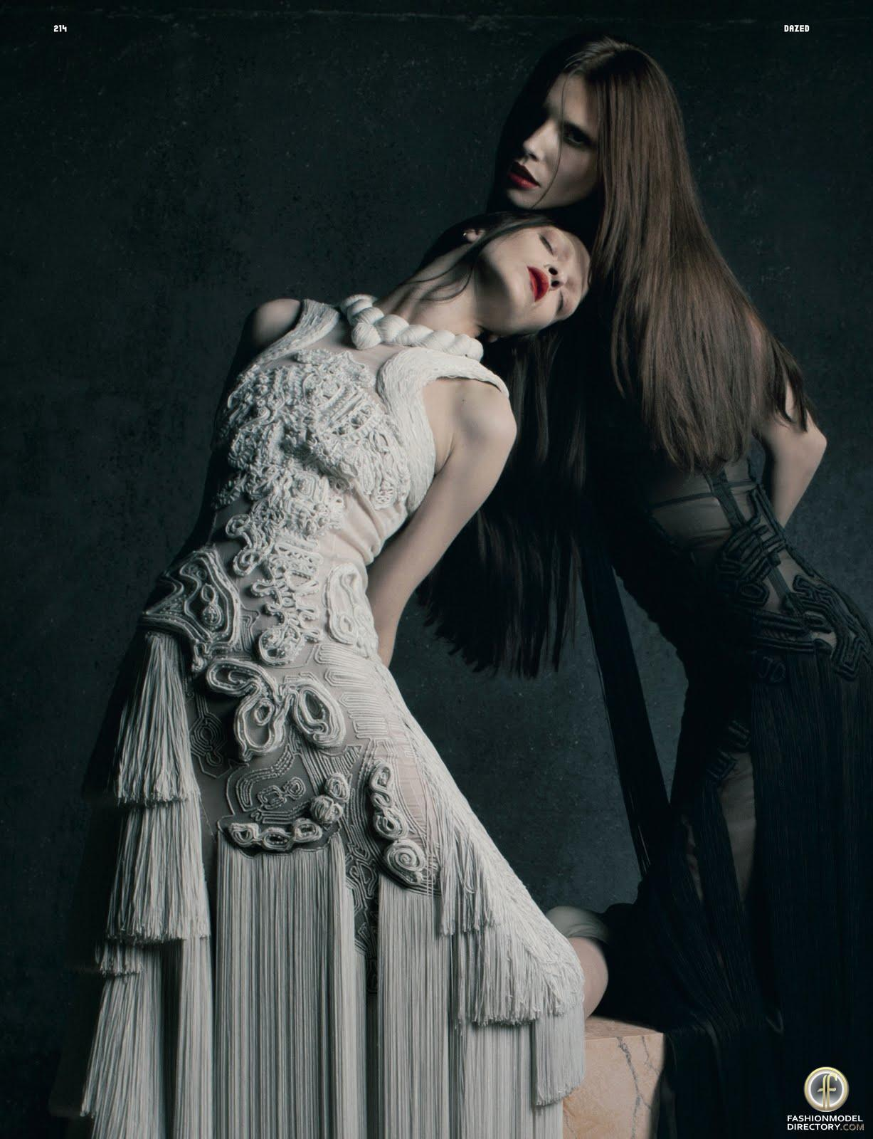 saloandseverine:  Dazed & Confused October 2011, Ex Stasis (Givenchy ed) Mariacarla Boscono & Lea Tisci by Matthew Stone