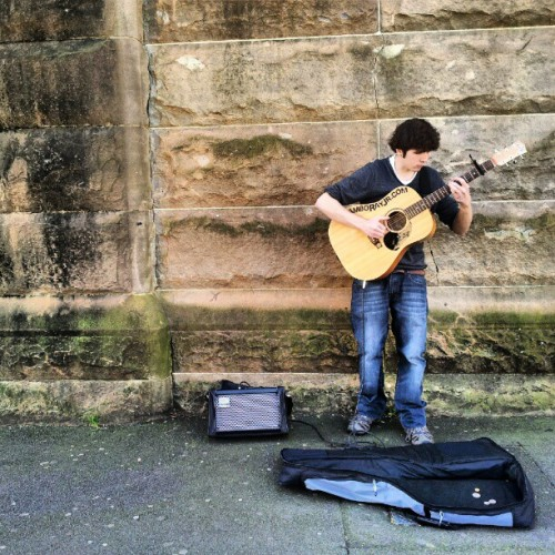 Busker at Eddy Ave, Central Station, #Sydney  (Taken with Instagram)
