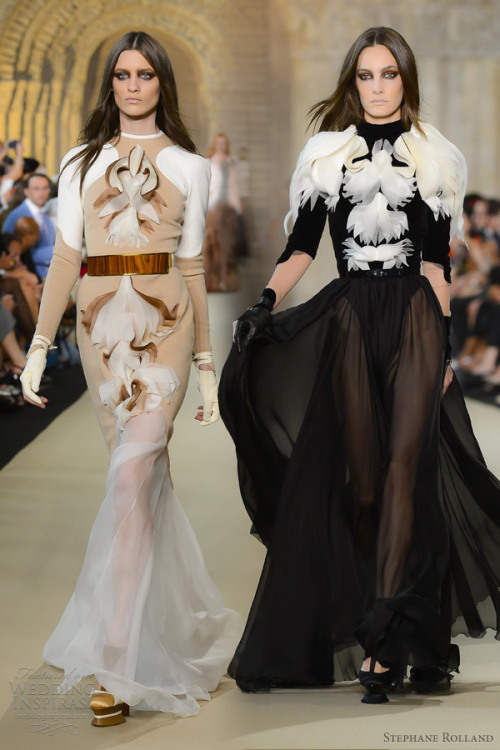 helloweddingdiary:  Stephane Rolland Fall 2012 couture presentation.