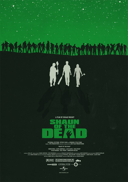 Shaun of the Dead alternative movie poster designed by Lloyd Stas