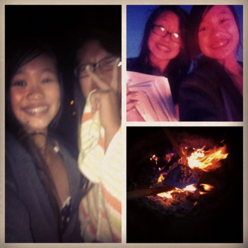 Bonfire with tracy!:) (Taken with Instagram)