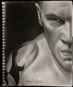 Tom Hardy - Bane before the mask, perhaps?   Another graphite drawing - this one took about 7 hours to do.   Who to do next??? :D