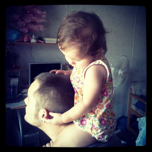 My love and his baby sissy (: (Taken with Instagram)