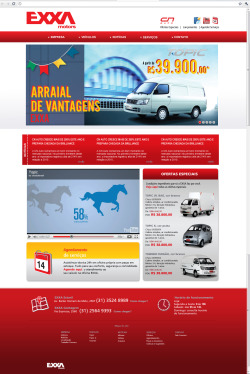 Proposed website for the concessionary EXXA Motors . Proposta de site para concessionária EXXA Motors.