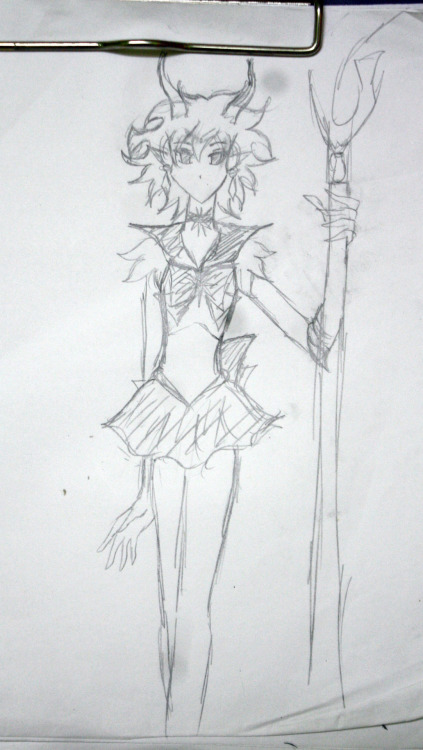 Gamzee as Sailor Saturn. No joke. And yes, Karkat's gonna be Sailor Moon. XDD Have I crossed the line nao? 8D