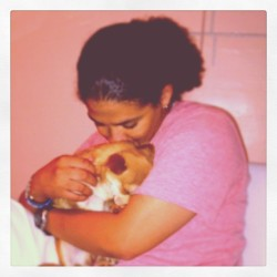 Me & my baby 🐶!!! Cooley just loves his mama!!! 💓 #instapets #pomchi #love #puppy (Taken with Instagram)