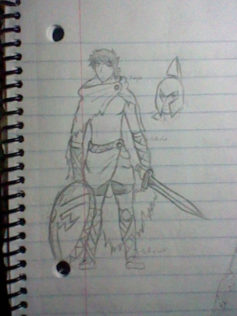 That last Pic remember me this Old Sketch for my Halloween Costume!! SPartan DEMIGOOD!!!!!