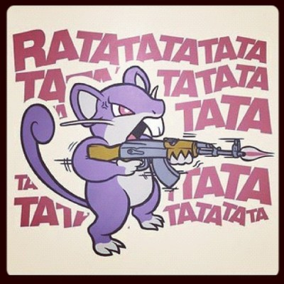 Como diría Shakira en Rabiosa: ratata!! #pokemon (Taken with Instagram)