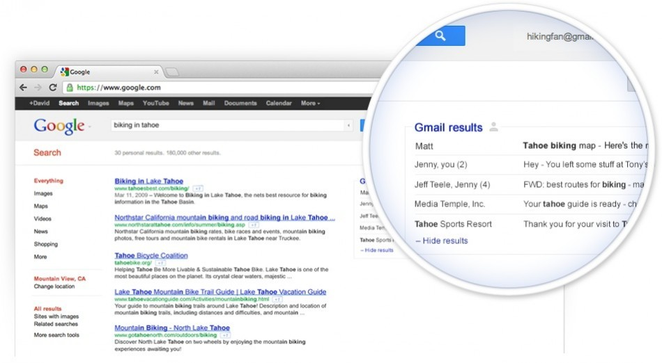 GOOGLE POWER: Gmail results in search - and just how many billions of searches does it do per month?