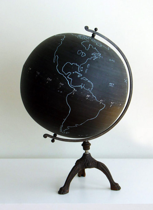 allthingsstylish:  Chalkboard Globe from CS Post & Co.