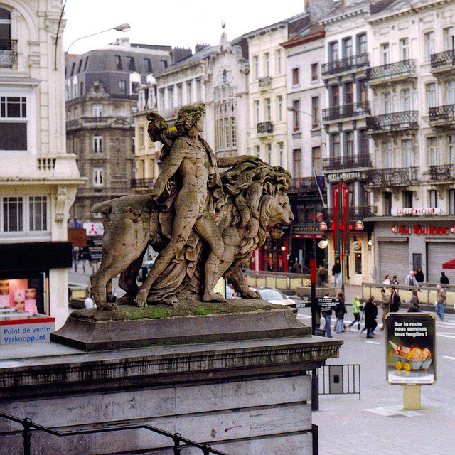 | ♕ |  Lion statue of Brussels  | by © Peter Gutierrez | via ysvoice