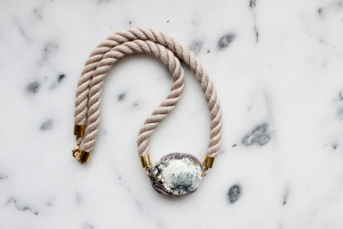 thevamoose:  Twisted rope and marble necklace