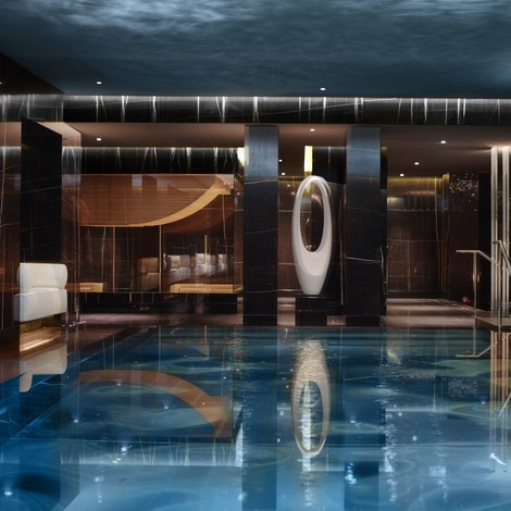 The pool at the Corinthia London - click image to read the review